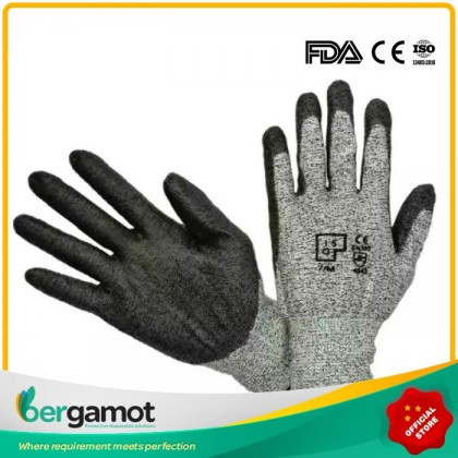 Anti-Cut Level 5 Protection Safety Gloves Cut Resistant Gloves 1 Pair